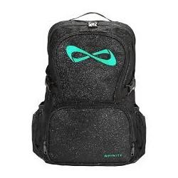 Nfinity sac à dos noir pailleté logo turquoise